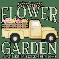 VINTAGE FLOWER GARDEN TRUCK