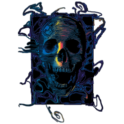 SKULL COLORED LINES