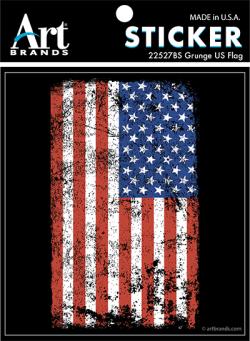 GRUNGE US FLAG STICKERS