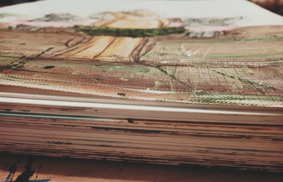 Here's the stack of illustrations when I was done.