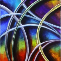 "Interlocking 18"" x 24"" Acrylic on Stretched Canvas"
