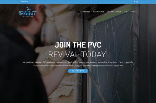 Paint My Windows Website by Art by Design - Web Designer Bridgend