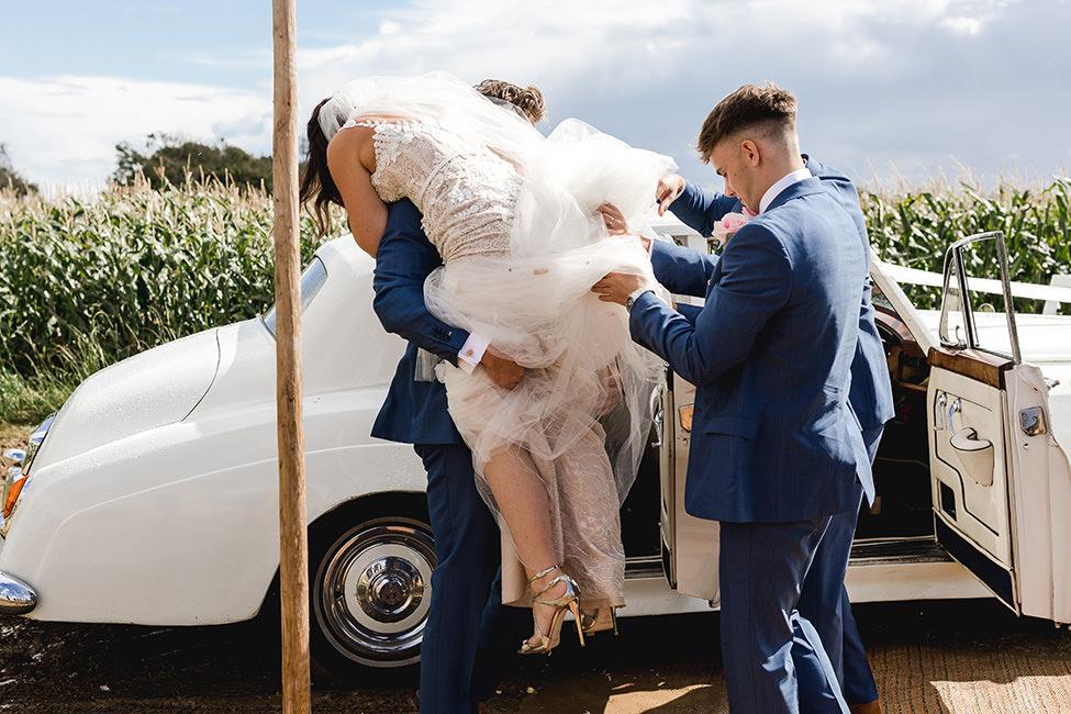 bride lift south wales