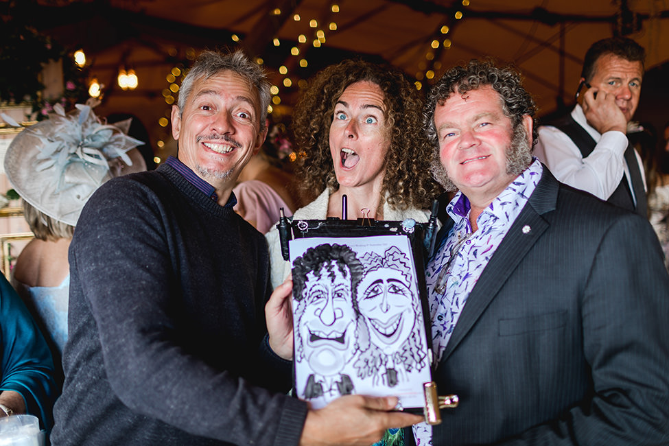 Picasso Griffiths - Caricaturist at a South Wales Wedding