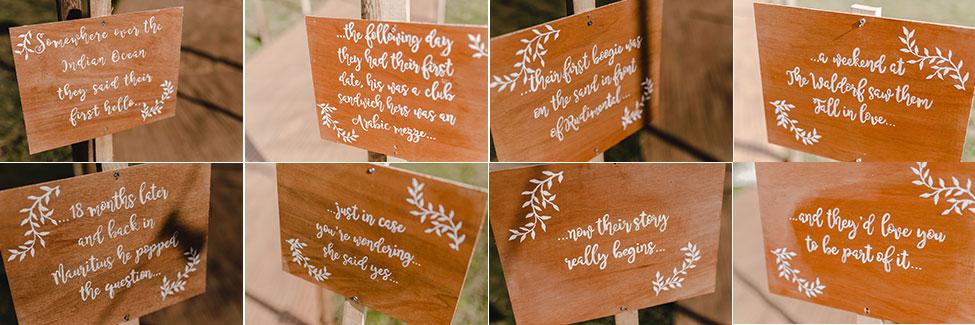 diy wedding storyboard south wales