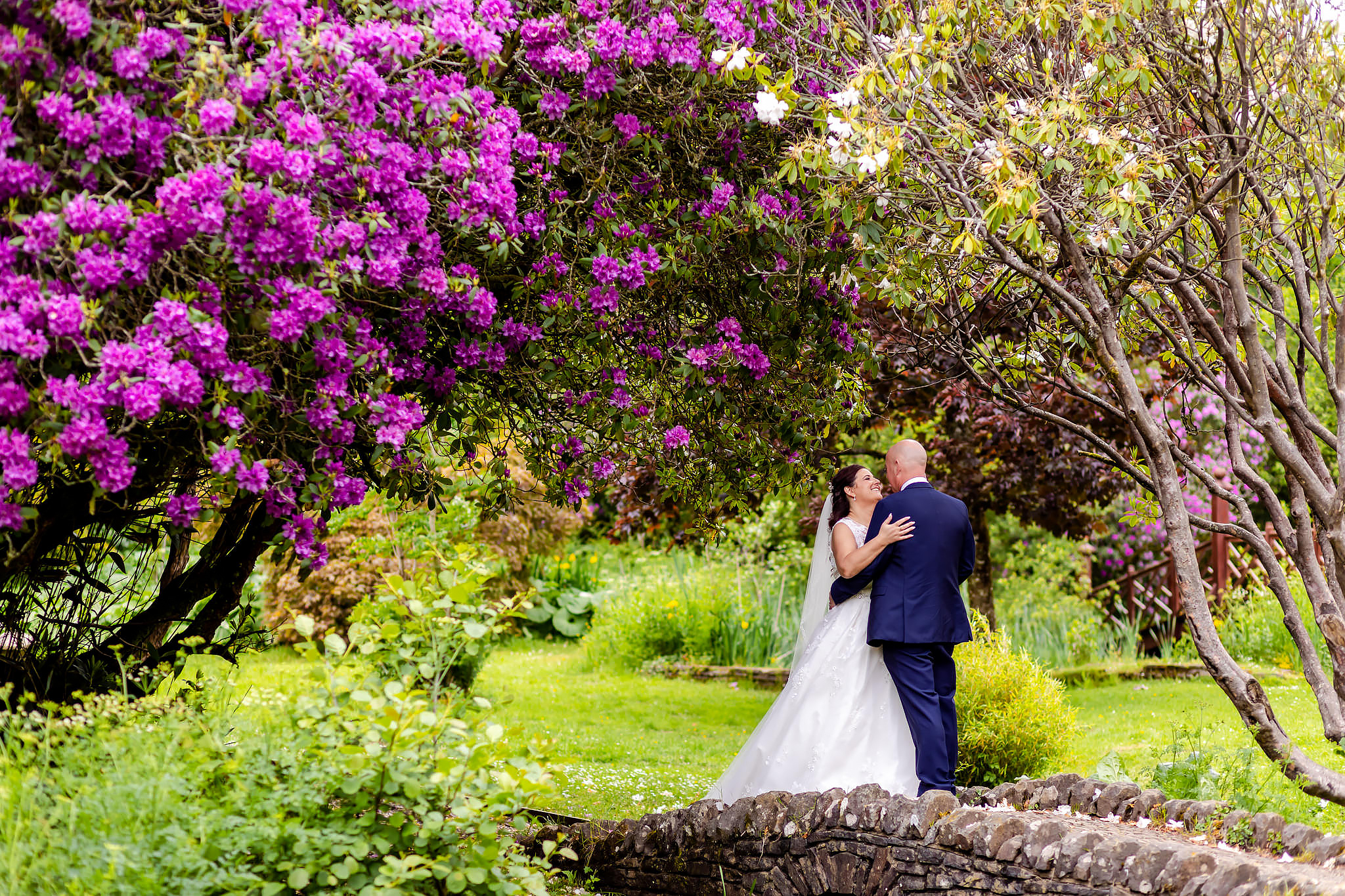 Bryngarw House Wedding Photography - Bride and Groom