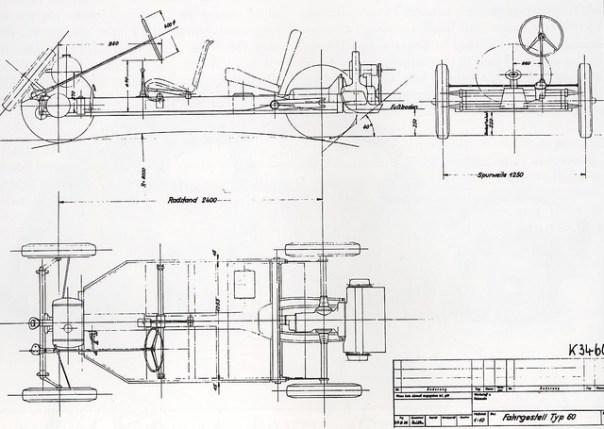 Kubelwagen chassis blueprints