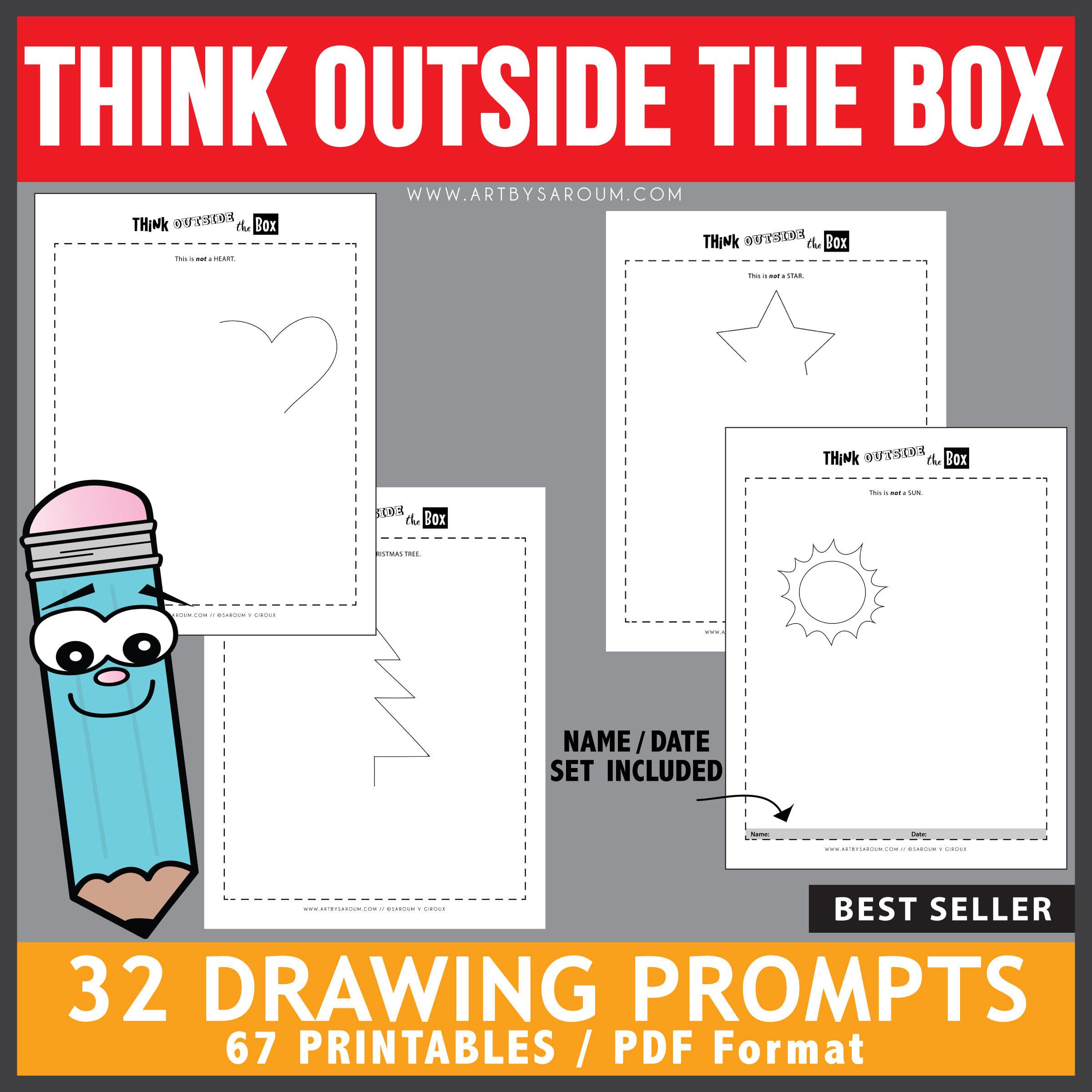 Think Outside The Box Drawing Prompts Best Seller