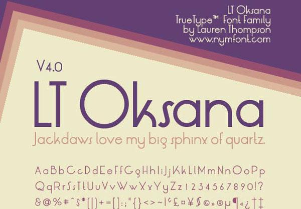LT Oksana 4.0 Free Retro Font