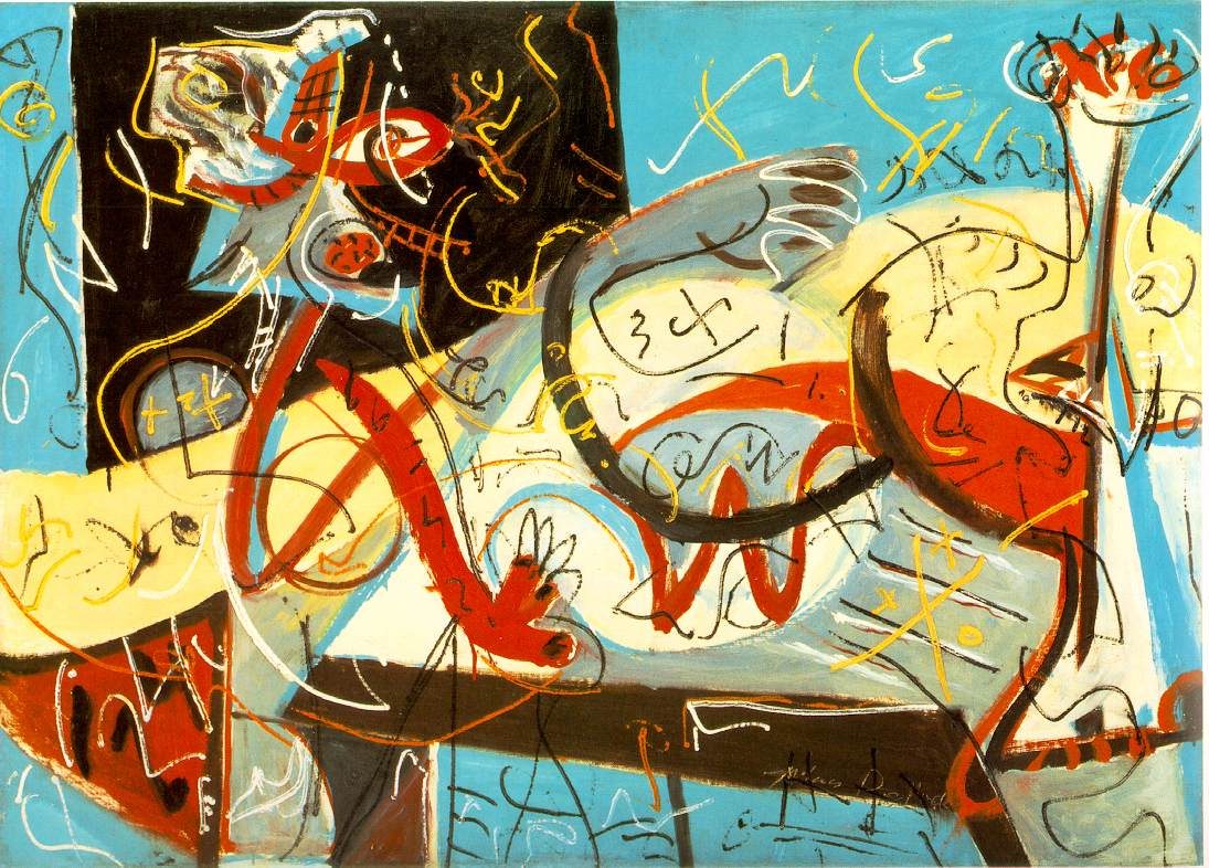 Jackson Pollock, 'Stenographic Figure', 1942 - taken from the Artchive