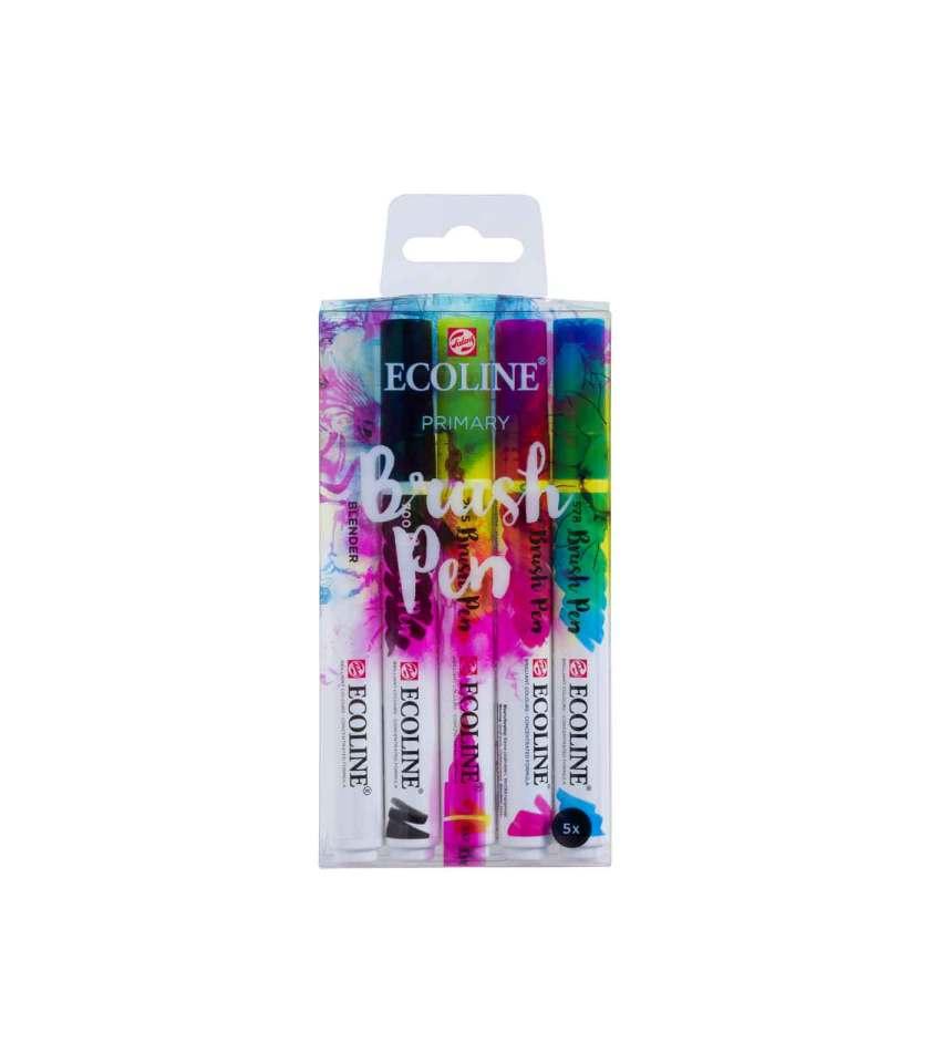 set-5-markadoroi-ecoline-brush-pen-primary-Talens-Art&Colour-1