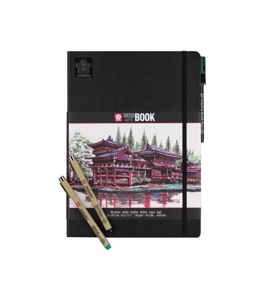 sketchbook-notebook-21x29.7-white-sakura-Art&Colour
