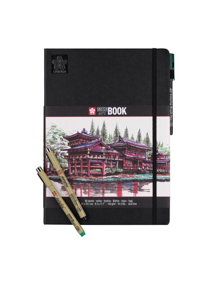 sketchbook-notebook-21x29.7-white-sakura-Art&Colour