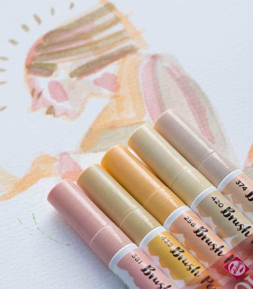 set-5-markadoroi-Beige-Pink-ecoline-brush-pen-Talens-Art&Colour