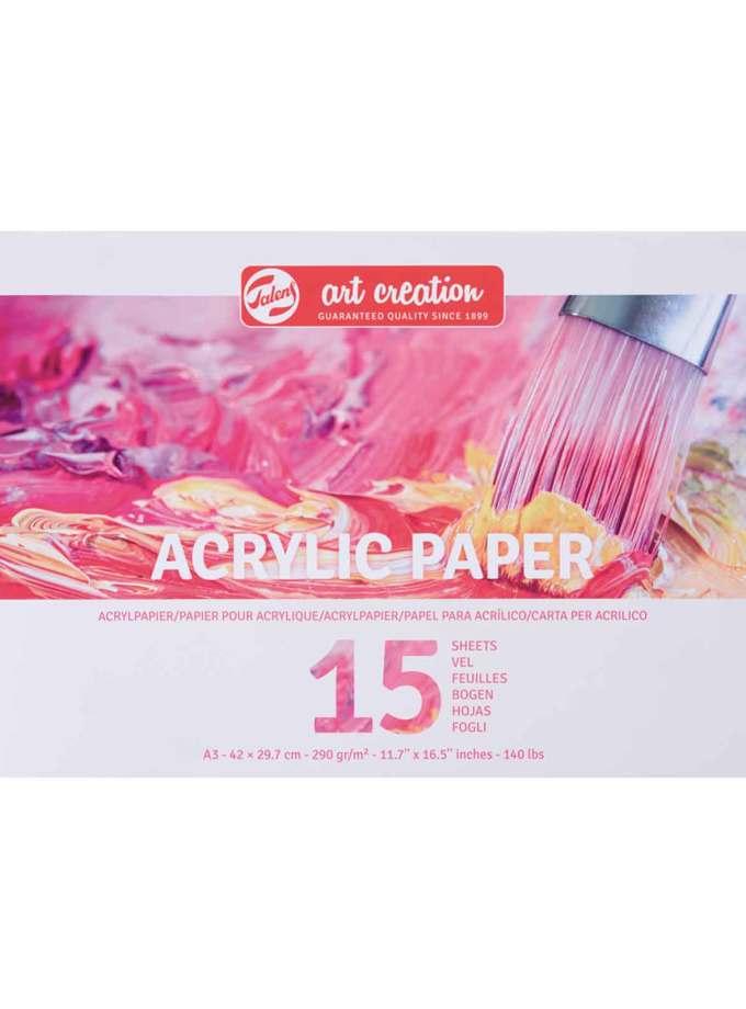 A3-Mplok-Zografikis-Acrylic-Paper-Talens-Art-Creation-15-Pages-42X29.7cm-290gr-Art&Colour