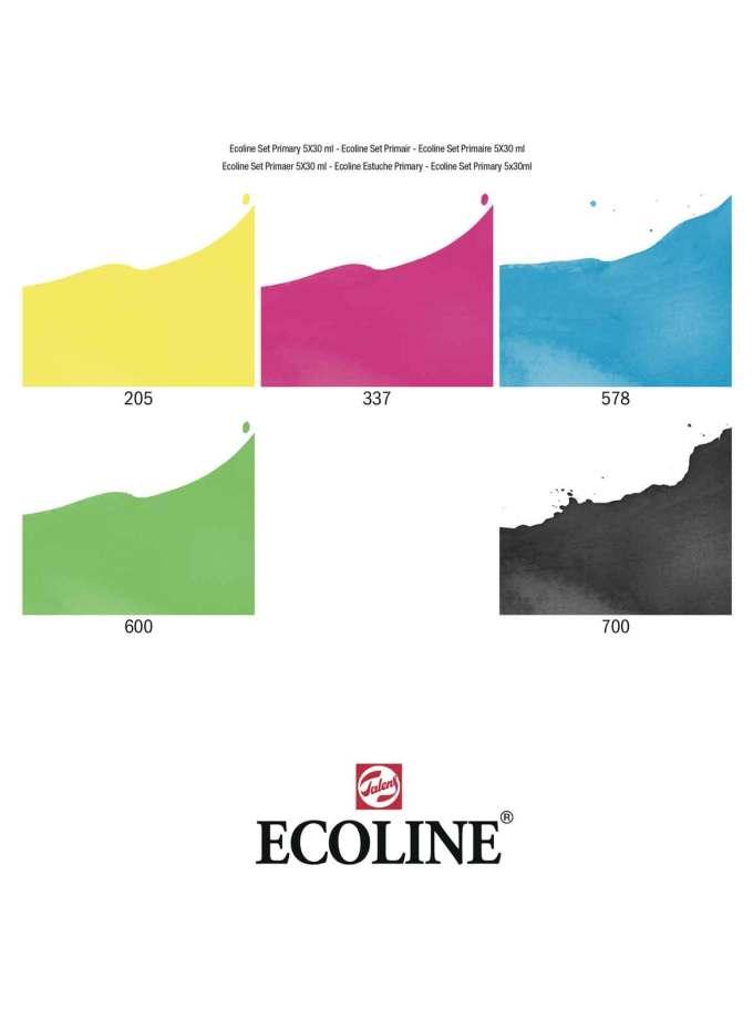 Ecoline-Talens-Set-5-Primary-Colours-Colour-Chart-Art&Colour