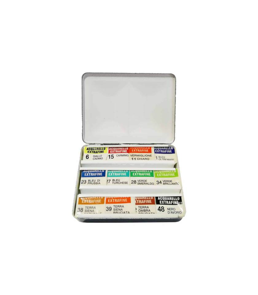 8300-set-metaliki-kasetina-12-akouarela-Ferrario-Art&Colour