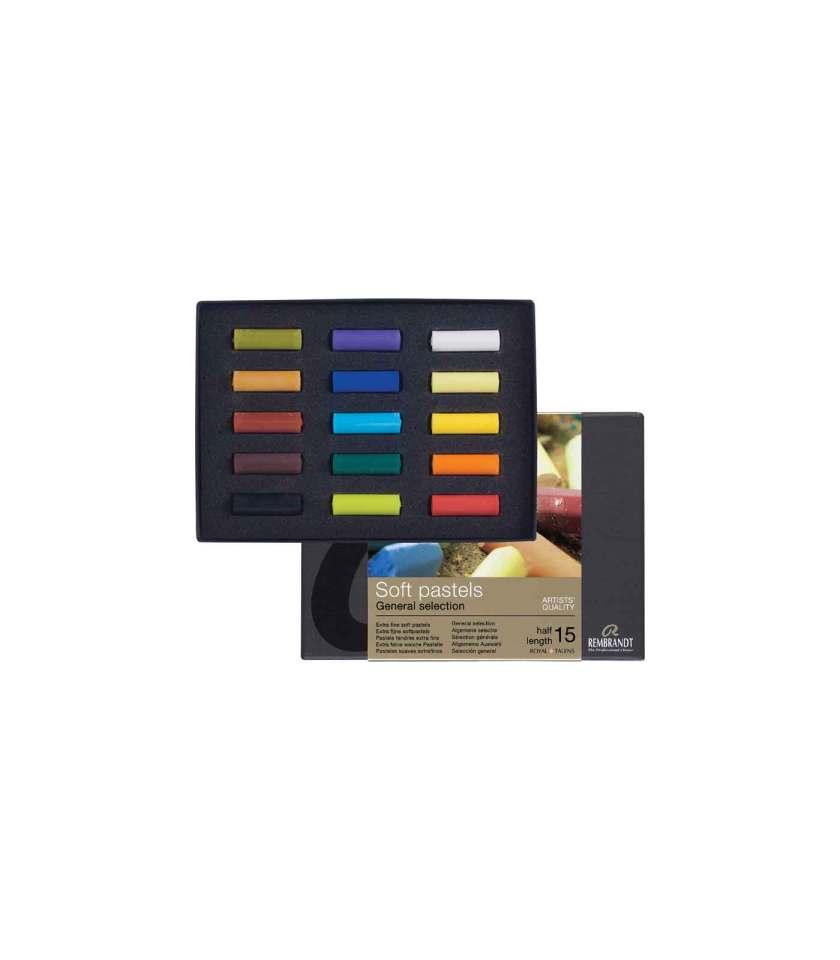 set-15-half-length-soft-pastels-Rembrandt-Art&Colour
