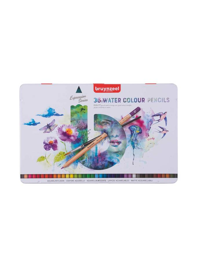 Bruynzeel-36Water-Color-Pencils-Expession-Art&Colour