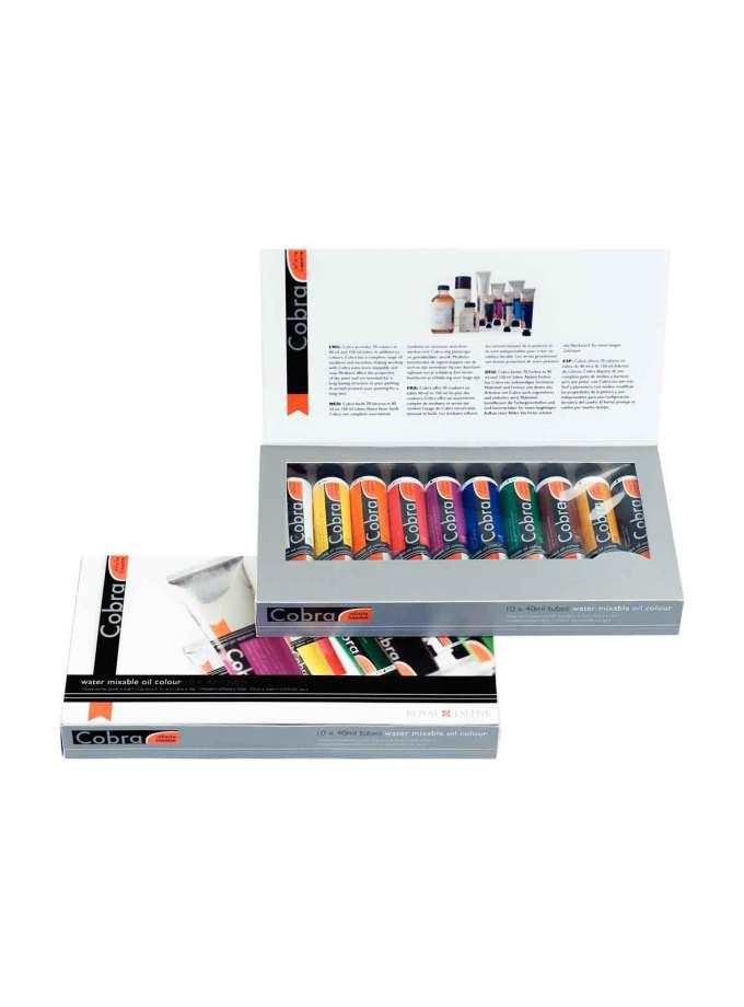 set-10x40ml-cobra-artist-oil-Ladoxroma-Nerou-Talens-Art&Colour