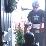 Military Dad Disguised as Captain America Surprises His Sons