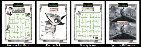 Frankenweenie Family Activity Pack