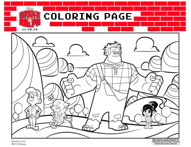 Wreck it Ralph Coloring Sheets