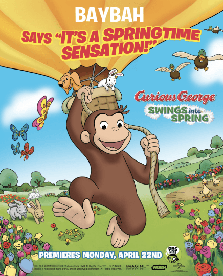 Celebrate Earth Day with Curious George -Swing into Spring!