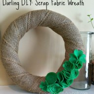 DIY Scrap Fabric Wreath Tutorial