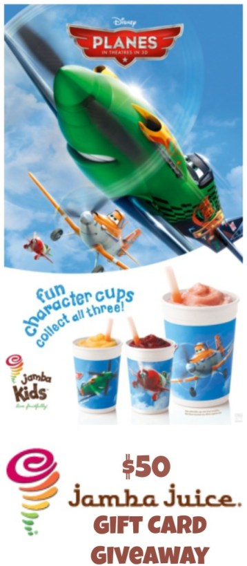 Jamba Juice Gift Card #Giveaway #DisneyPlanes