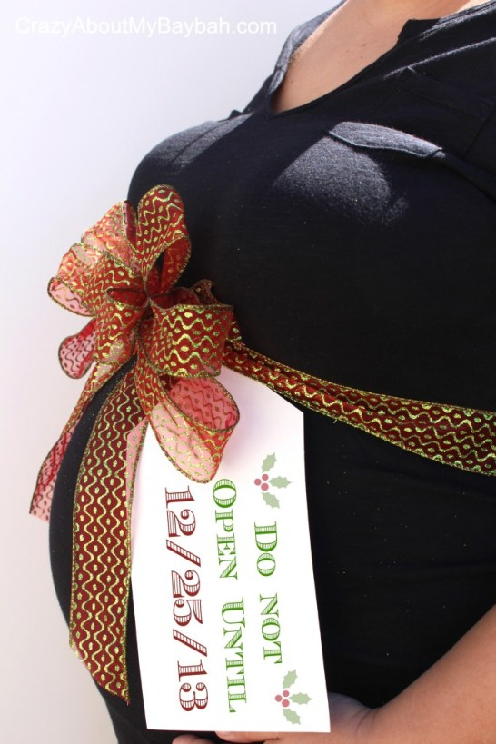 Christmas Baby Pregnancy Announcement