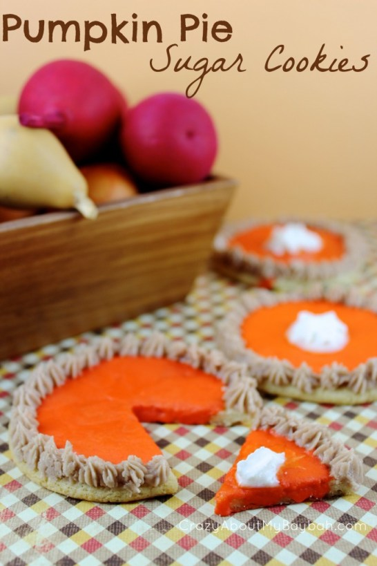 Pumpkn Pie Sugar Cookies #Recipe #Cookies