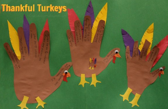 Thankful turkeys thanksgiving craft for families for Thanksgiving turkey arts and crafts