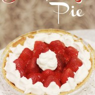 Lightened Up Strawberry Pie with Homemade Whipped Cream #SweetSwaps
