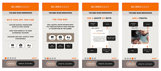 Make a Virtual Baby Book With the Blinkbuggy App!
