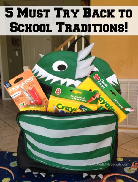Must Try Back to School Traditions #BTS #BackToSchool