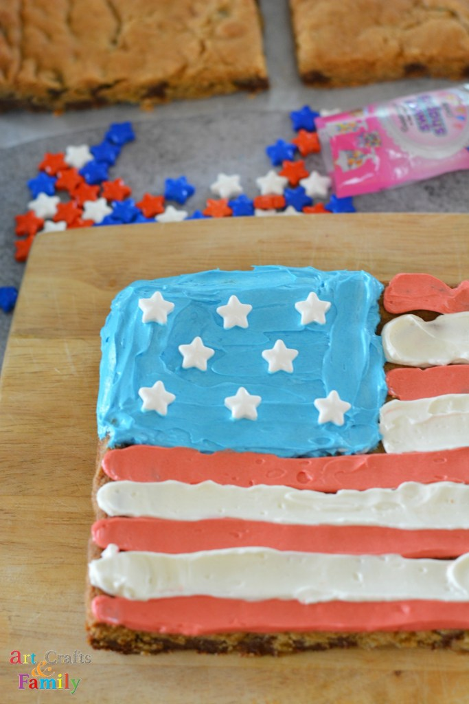 4th of July Recipe | American Flag Cookie Bar