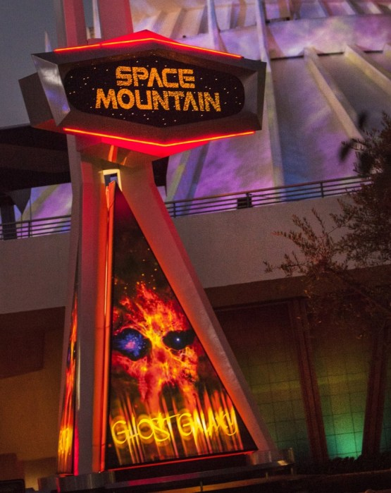 Space Ghost Mountain at Disneyland's Halloween Time