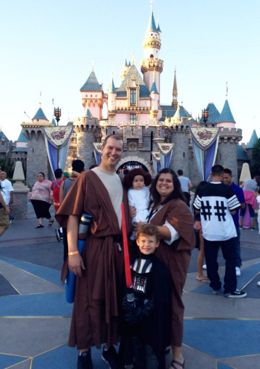 Family Star Wars Costumes at Disneyland's Halloween Time