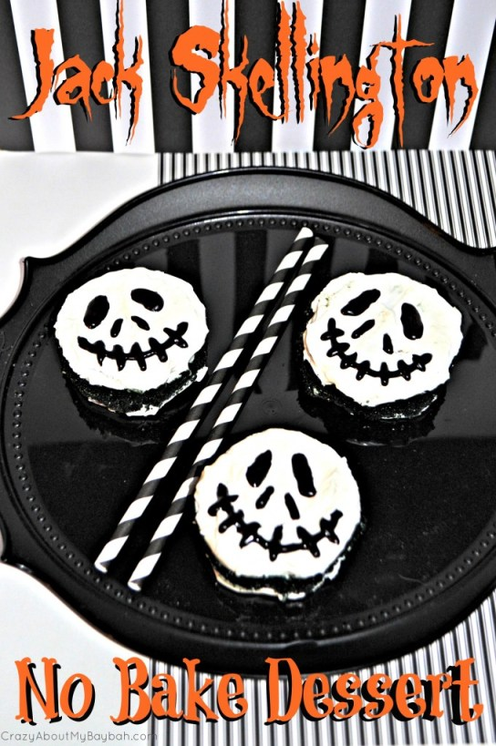 Jack Skellington No Bake Dessert #Halloween #Dessert