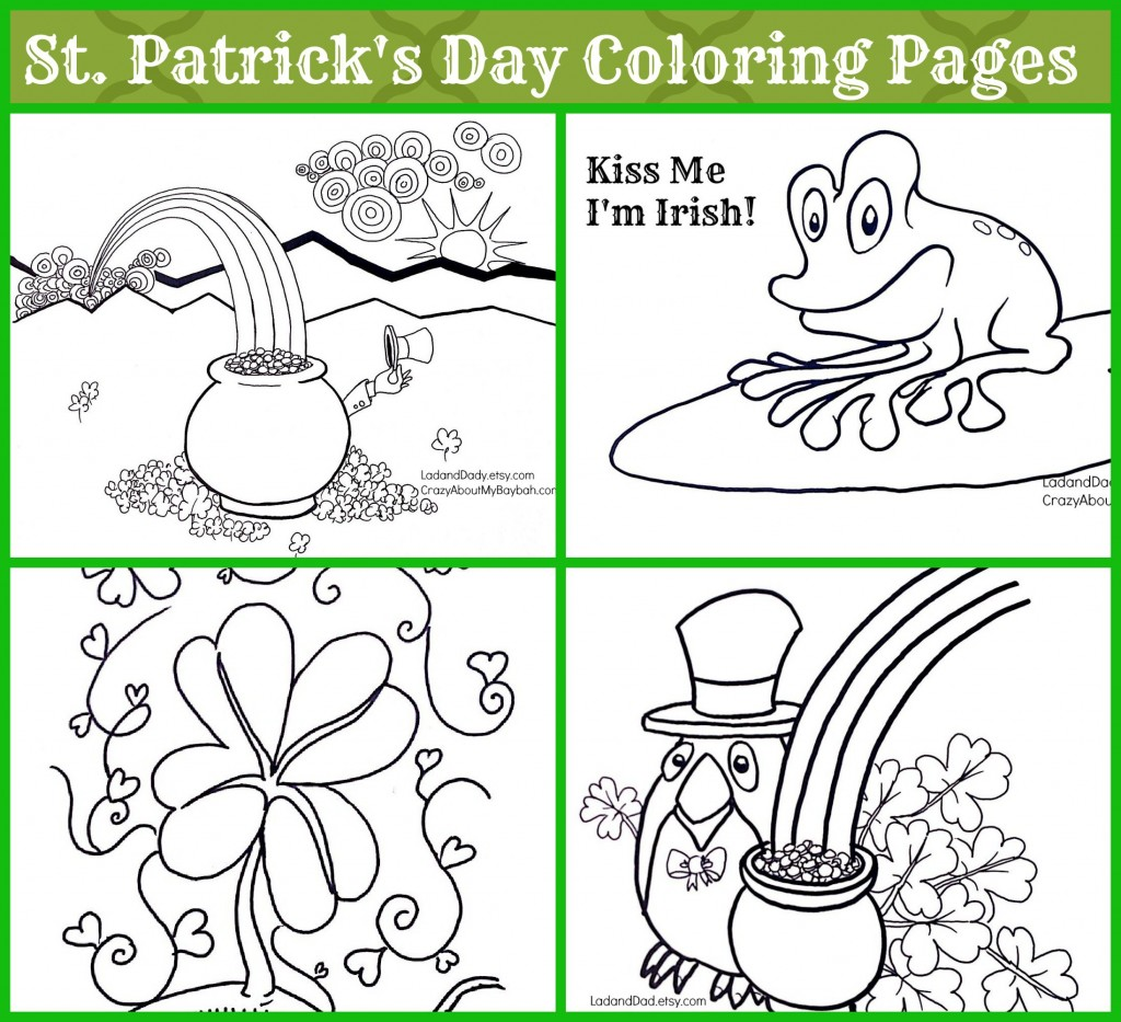 st patrick u0027s day coloring pages for kids