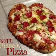 Valentine Heart Shaped Pizza Recipe