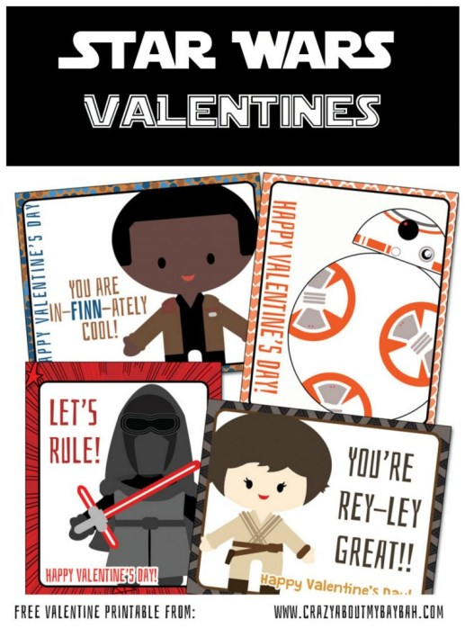 The Force Awakens Inspired Free Printable Star Wars Valentines