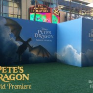 Flying Down the Green Carpet at the Pete's Dragon Premiere