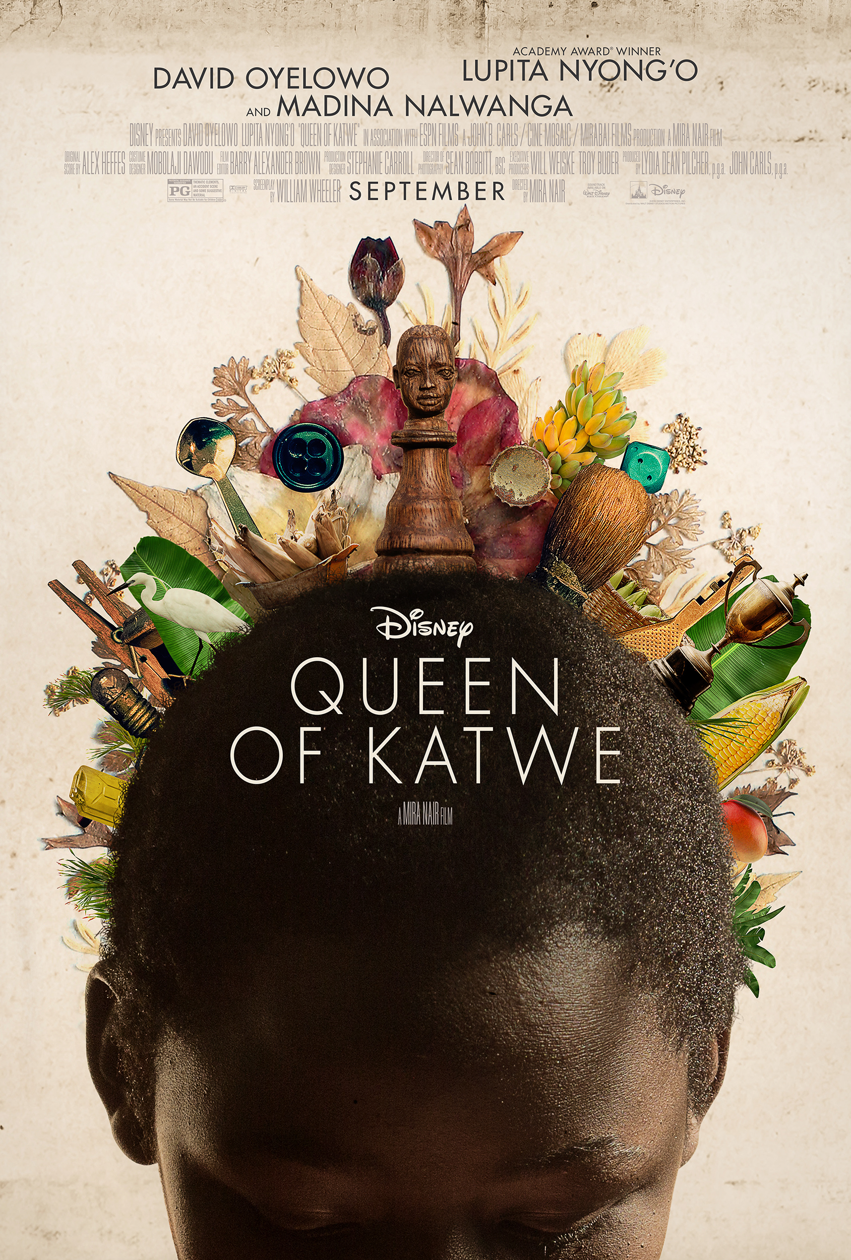 """Queen of Katwe"" is the colorful true story of a young girl selling corn on the streets of rural Uganda whose world rapidly changes when she is introduced to the game of chess."
