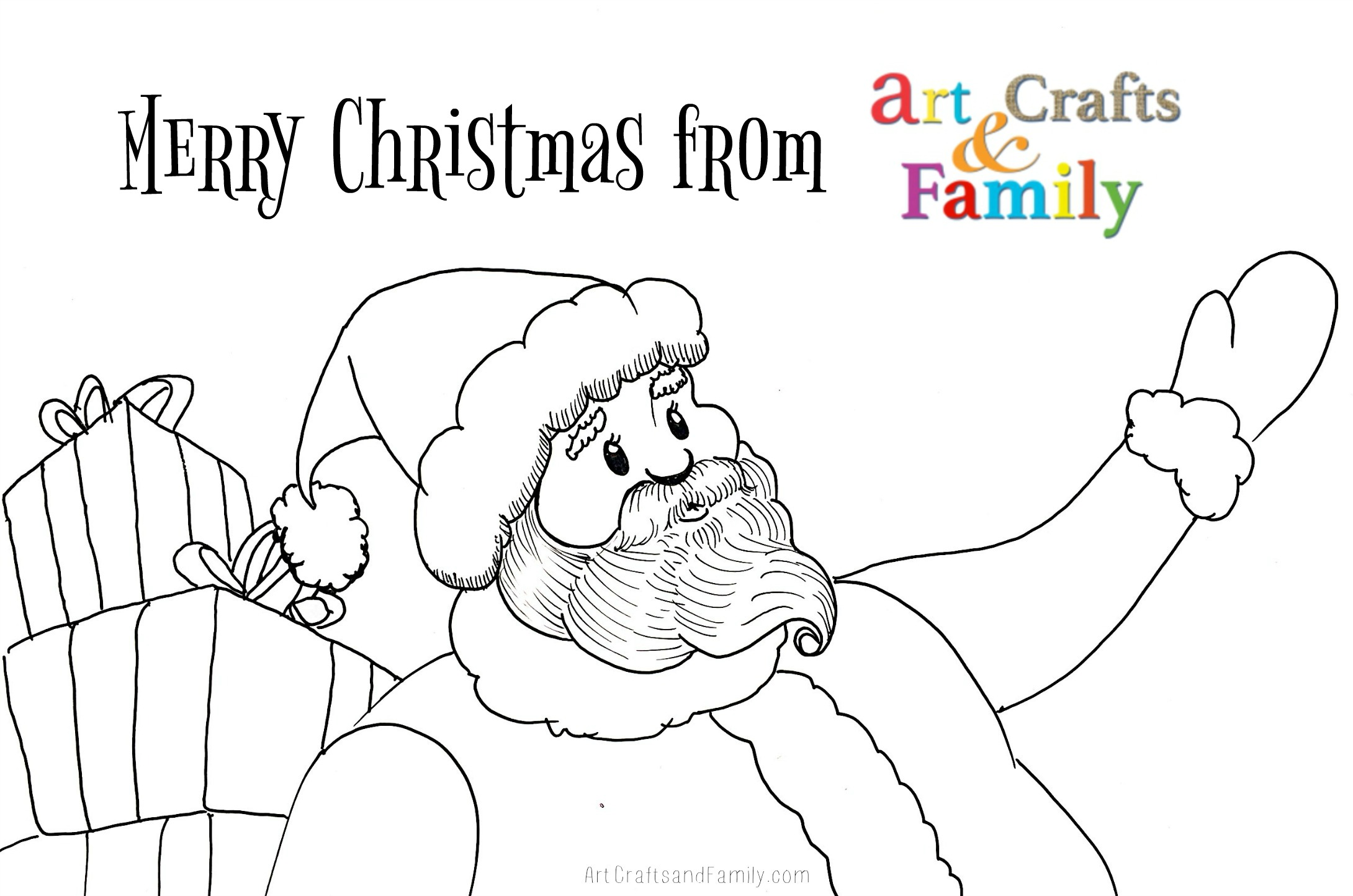 Free Printable Christmas Coloring Pages - Art Crafts & Family