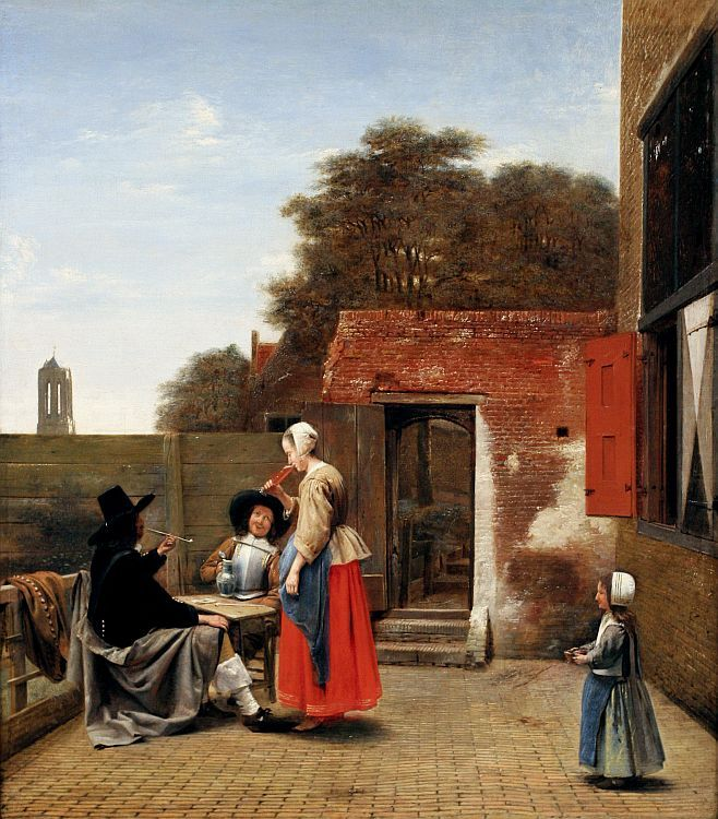 """A Dutch Courtyard"""