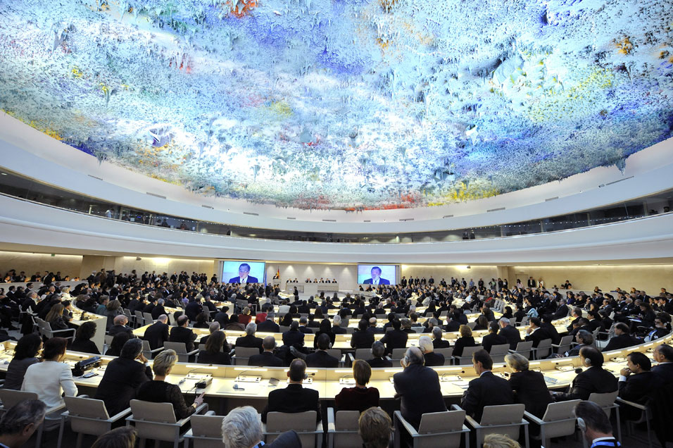 Miquel Barceló, New ceiling of a conference room of the United Nations Human Rights Council, 2008