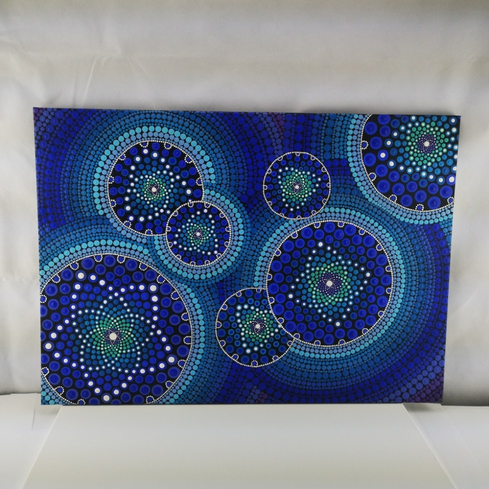 Blue Seeds Of Life Dot Painting