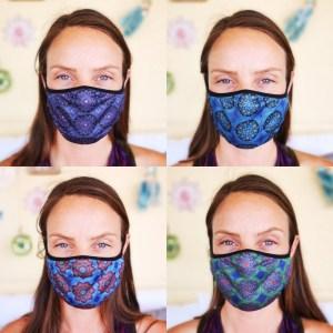 أقنعة الوجه المألوفة القابلة لإعادة الاستخدام 4 عبوات (أربعة تصاميم) رقم 7